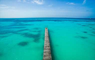 Colors of the water in the Yucatan