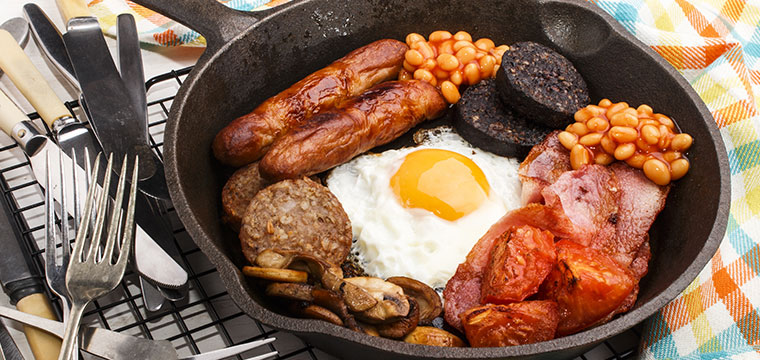 Wake up to a traditional Irish breakfast with black pudding