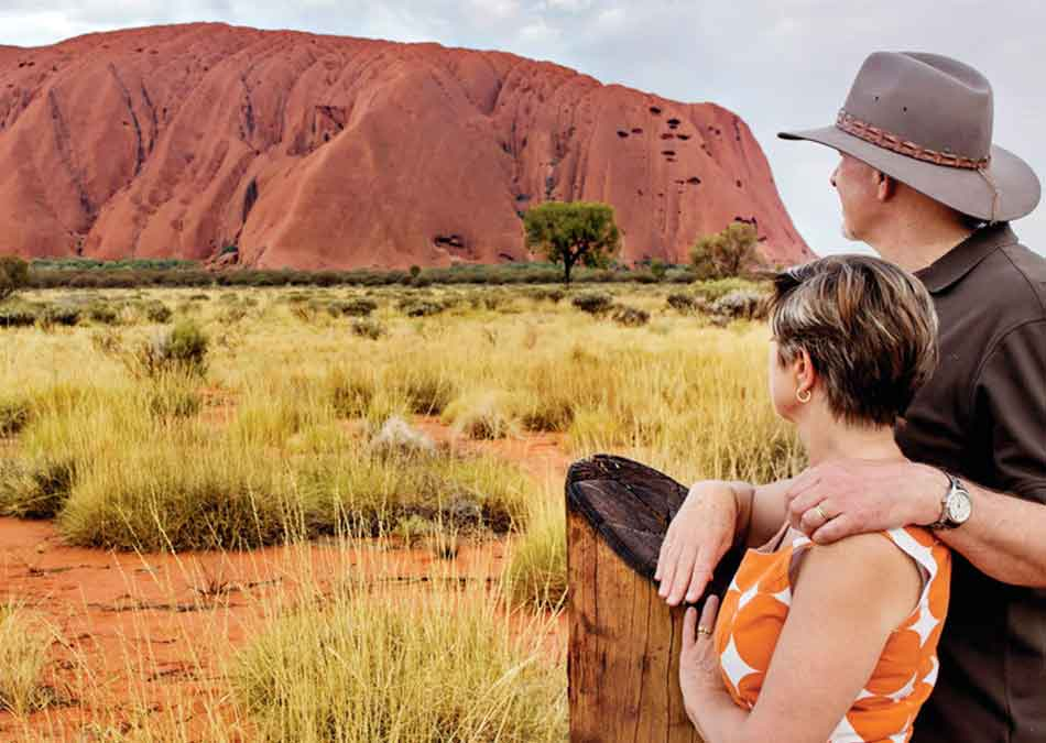 Couple View Ayers Rock