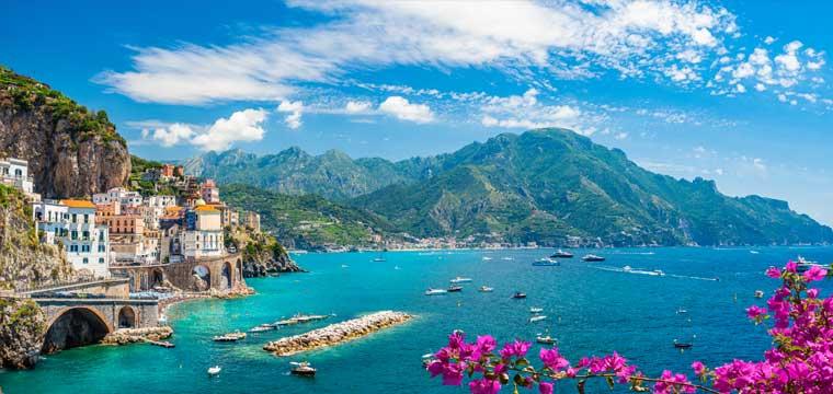 Atrani town at famous amalfi coast, Italy