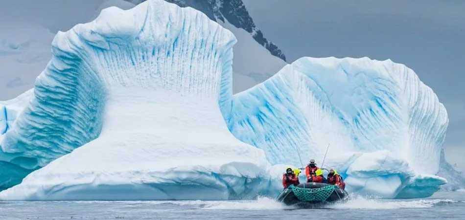 Tender boats get you up close in Antarctica
