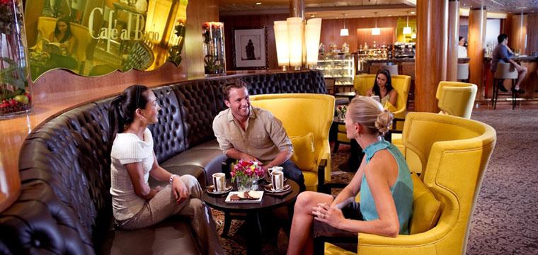 Enjoy espresso and gelato at Cafe al bacio