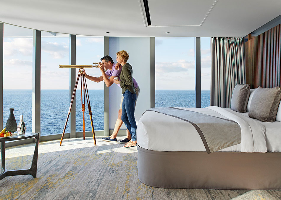 View the endless ocean in your Celebrity Cruise Suite