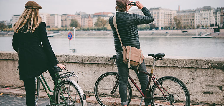 Explore the Danube by bike in Budapest, Hungary