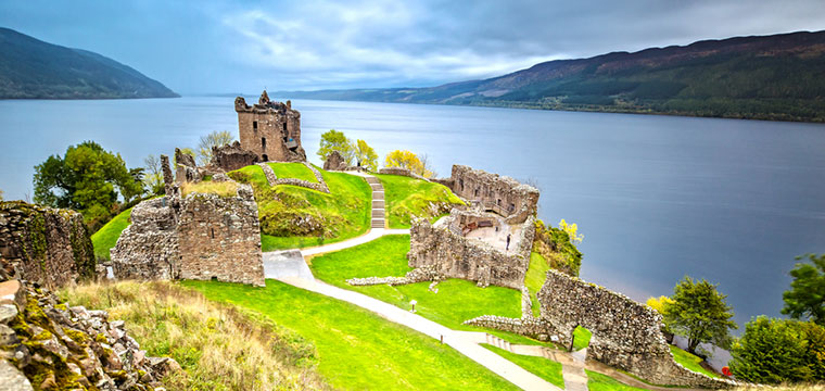 See if you can find 'Nessie' at Urquhart Castle on Loch Ness