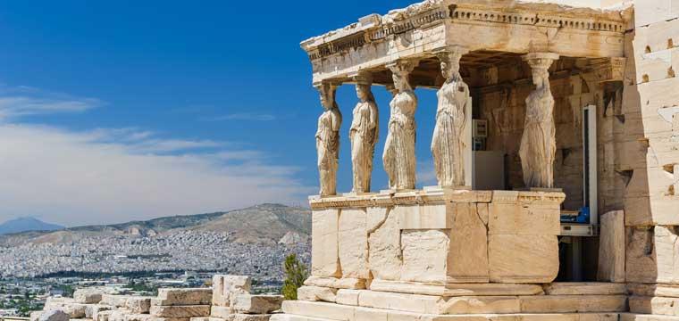Porch of the Erechtheion in Acropolis