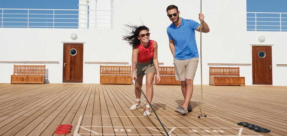Like to compete? We have shuffleboard on deck