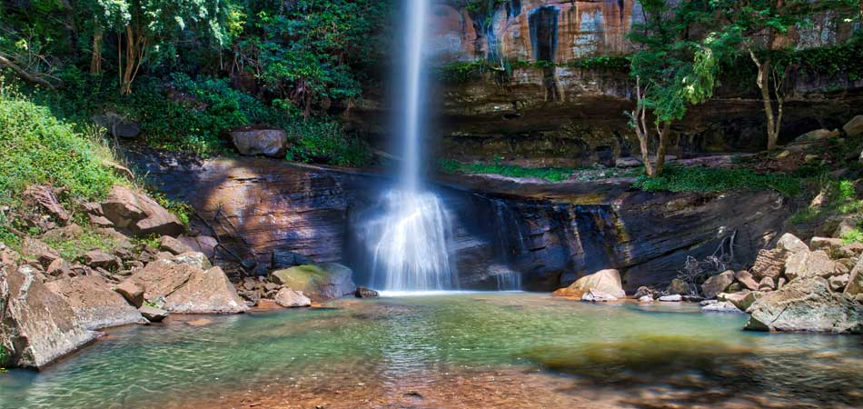 The Salto Suizo is the highest waterfall in Paraguay