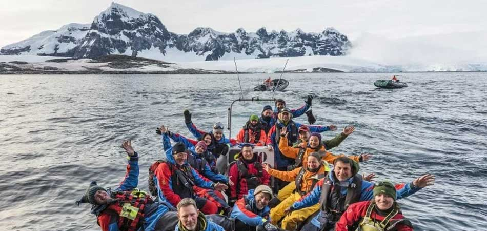 A private group Zodiac excursion in Antarctica