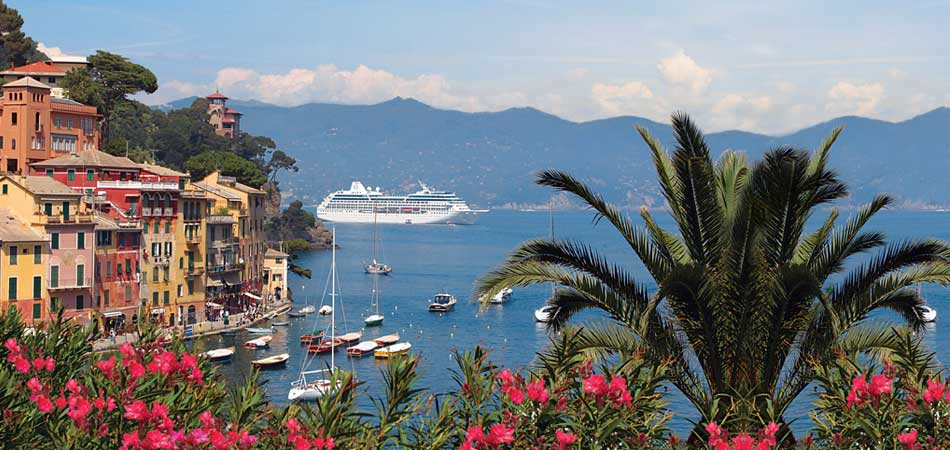 Sailing through Portofino Italy