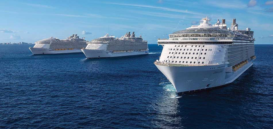Royal Caribbean Fleet setting sail