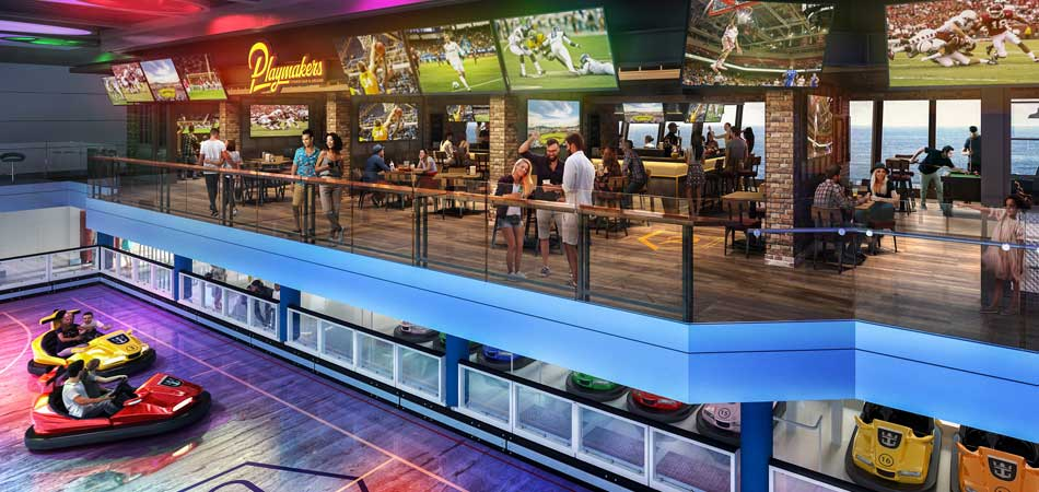 What other Cruise Line has a Sports Bar & Arcade?