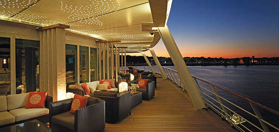 Horizon Lounge Deck has the best view on the ship