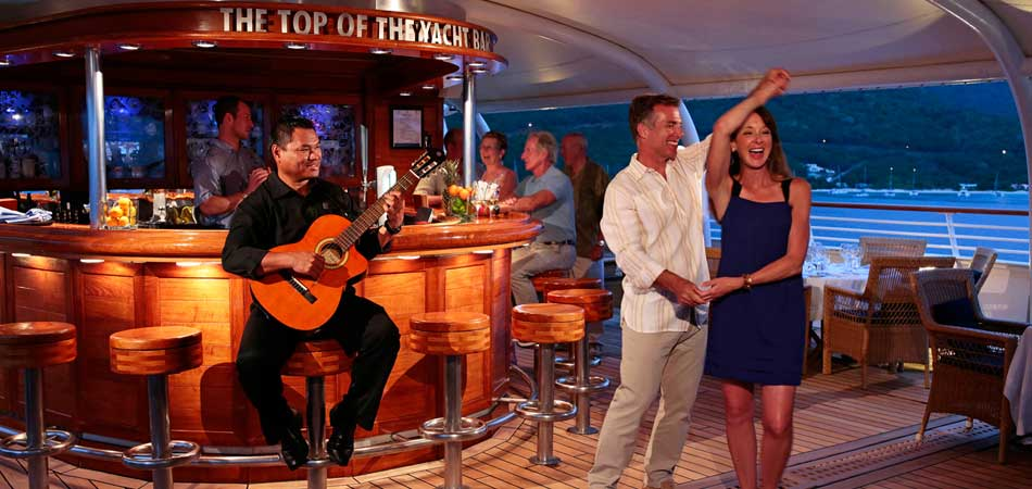 Dancing at The Top of the Yacht Bar