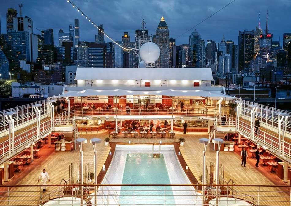 Silver Muse pool deck in New York