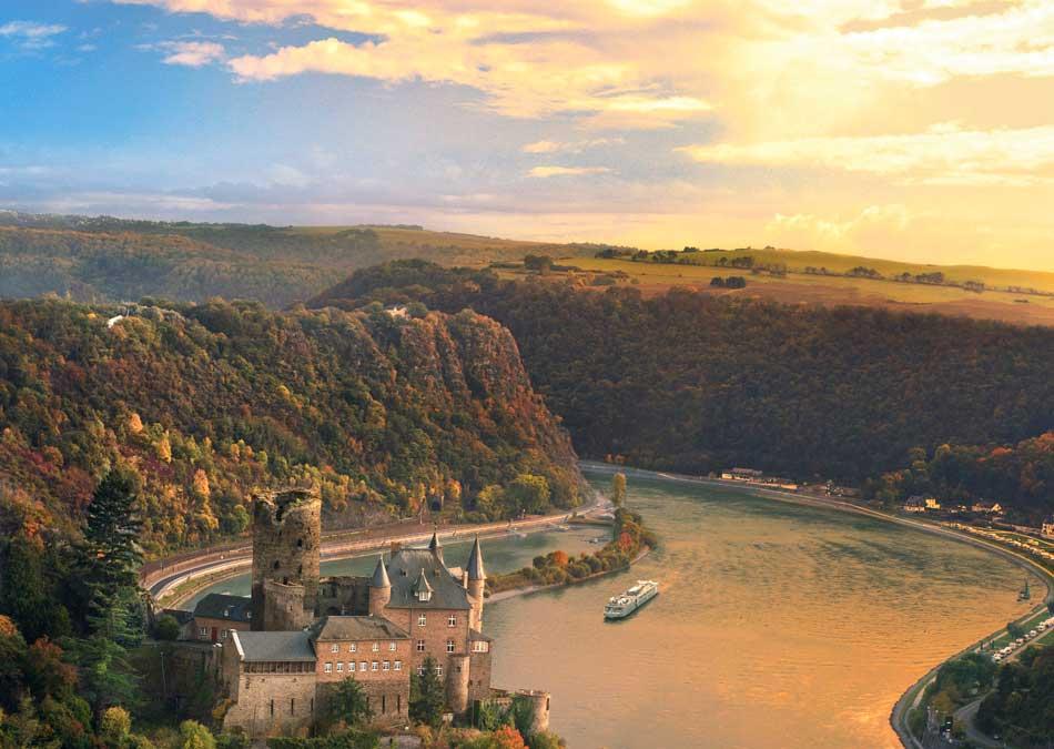 Viking Longship on the Rhine River