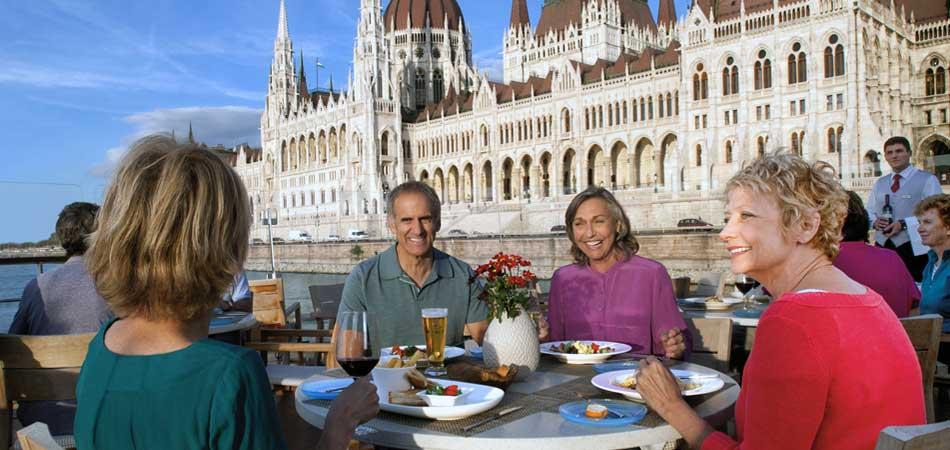 Viking Longship Aquavit Terrace in Budapest