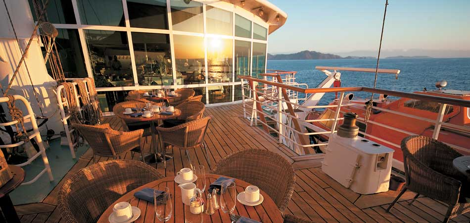 Dine on the Deck in the Caribbean Sun