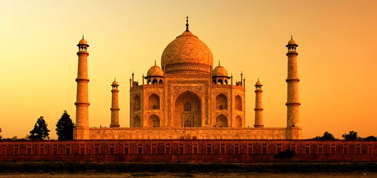 Visit the iconic Taj Mahal on south bank of the Yamuna river