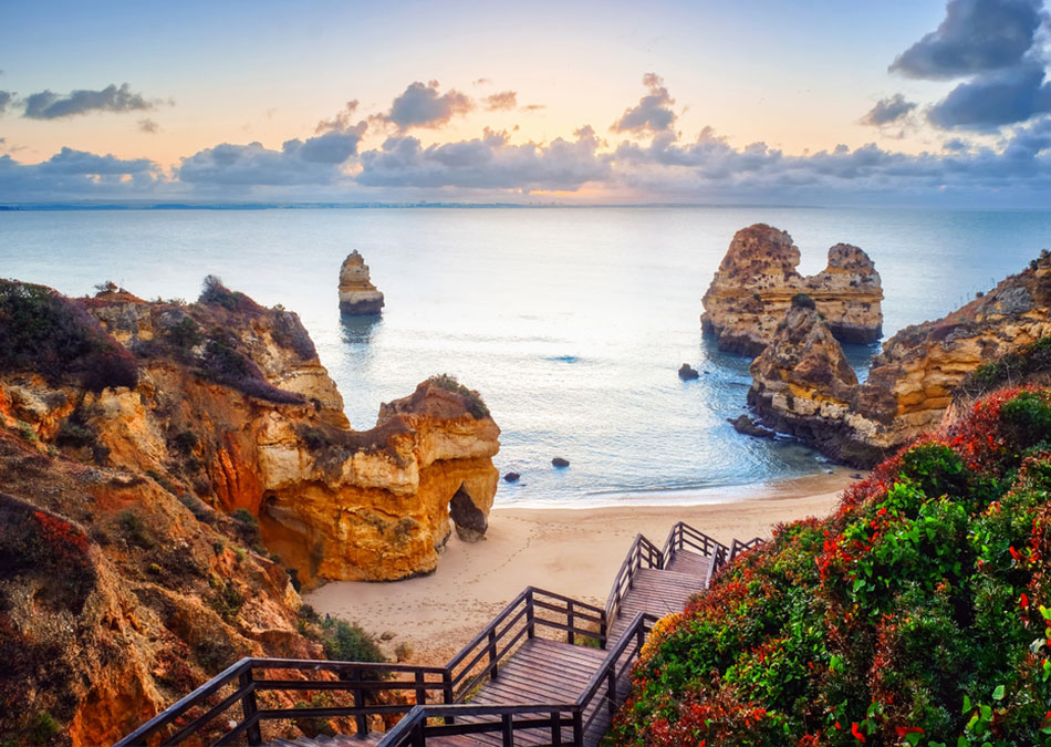 A hidden sandy beach in Algarve, Portugal
