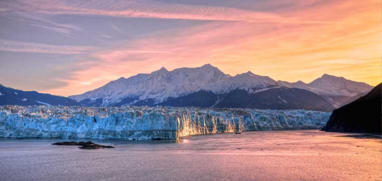Sunrise at Hubbard Glacier Alaska