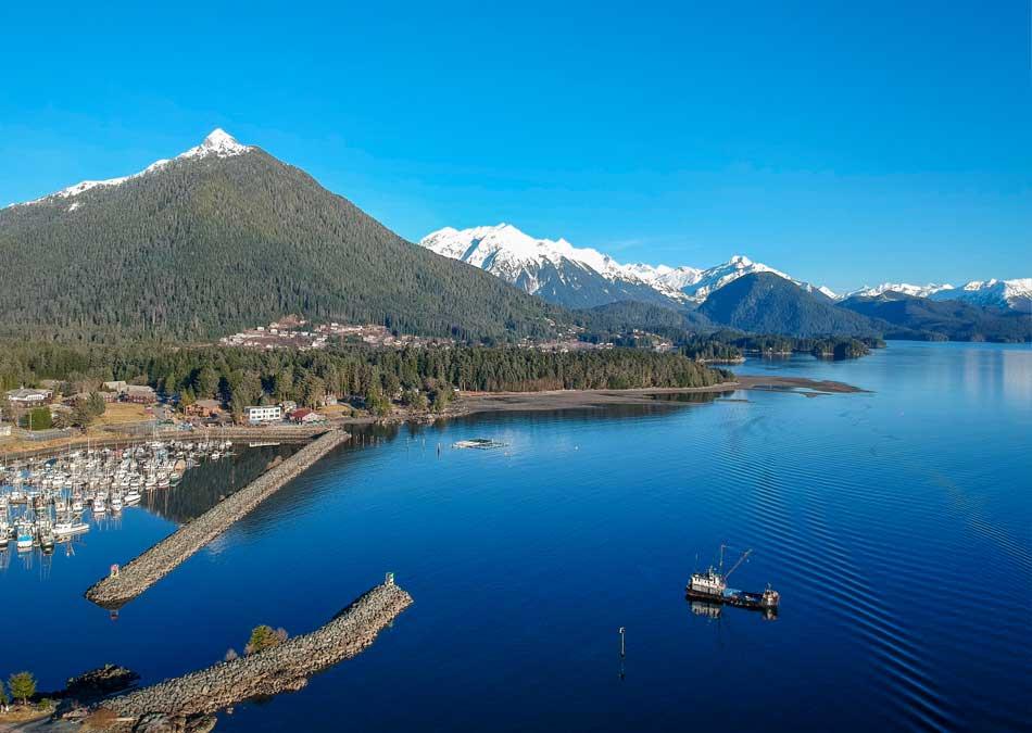 Mountain view in Sitka Alaska