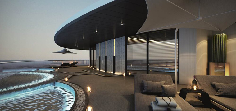 Poolside on the Scenic Eclipse