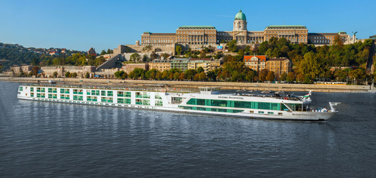 Scenic Crystal as she sails the Rhine, Main and Danube Rivers