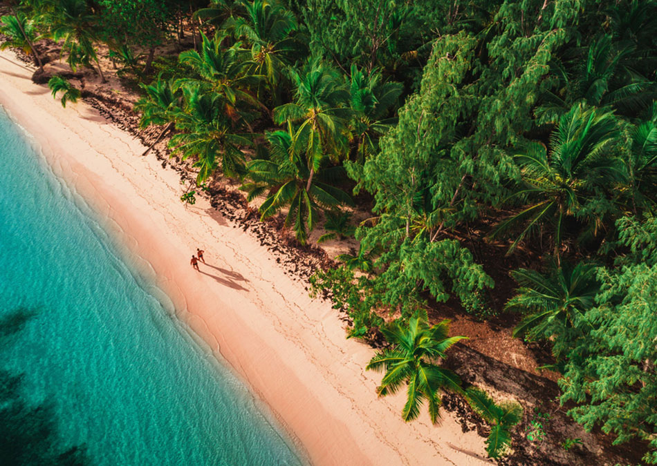 If you're looking for remote beaches, look no further than the South Pacific