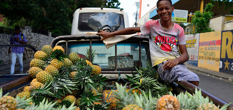 Pick up fresh produce from locals in Dominican Republic