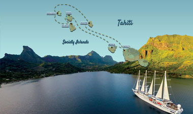 Windstar Six Islands in Tahiti